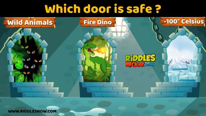 which door is safe RIDDLESNOW.COM