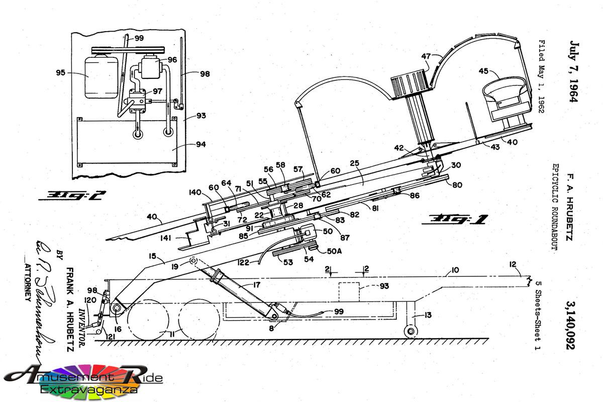 Frank Hrubetz Patent Amusement Ride Extravaganza