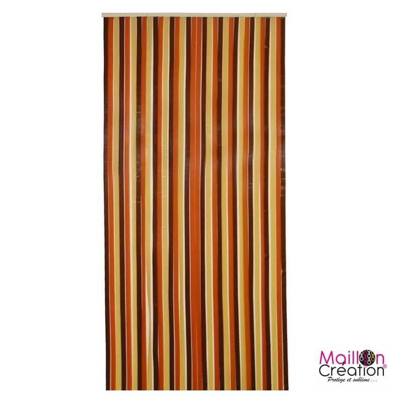 rideau de porte antilles brun beige plusieurs tailles