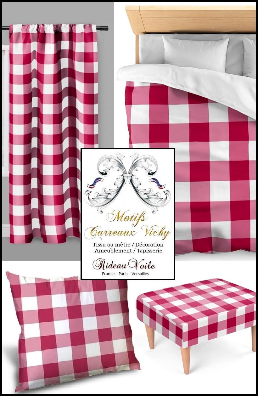 tissus rideaux motif carreaux vichy rideaux et tissus ameublement