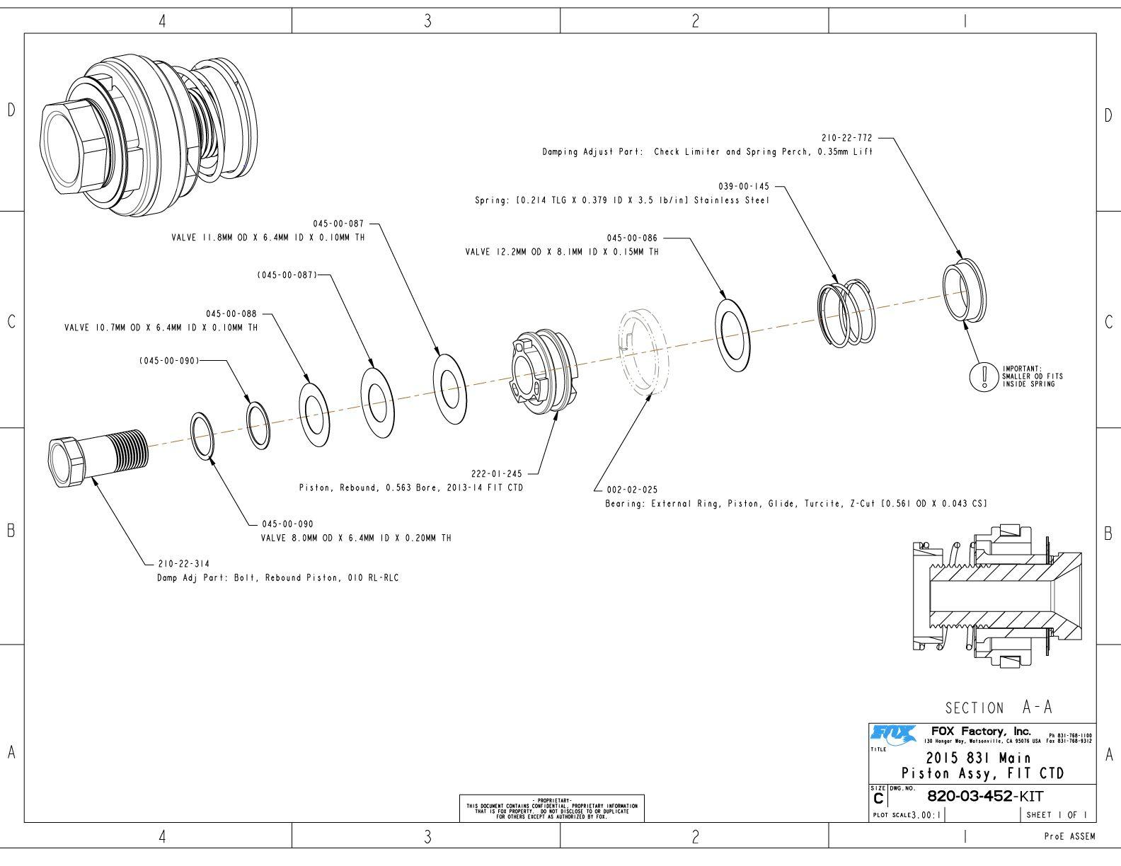 34mm Part Information