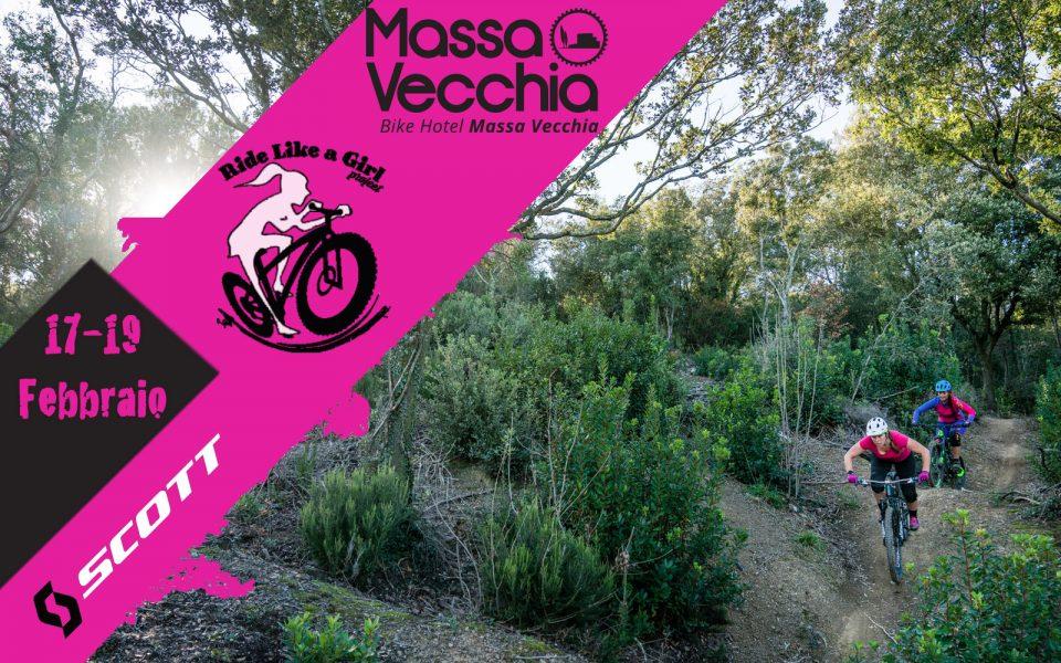 Locandina evento donne in bici a Massa Vecchia