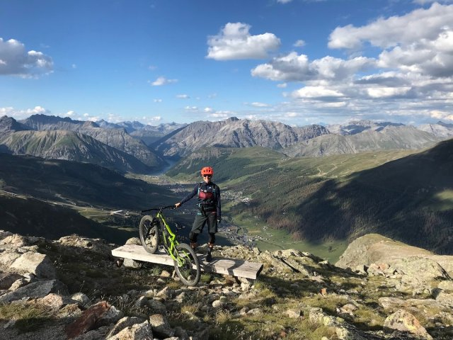 Livigno vista dal Madon Great Days sunset ride