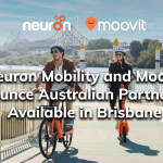 Neuron Mobility and Moovit Announce Australian Partnership, Available in Brisbane