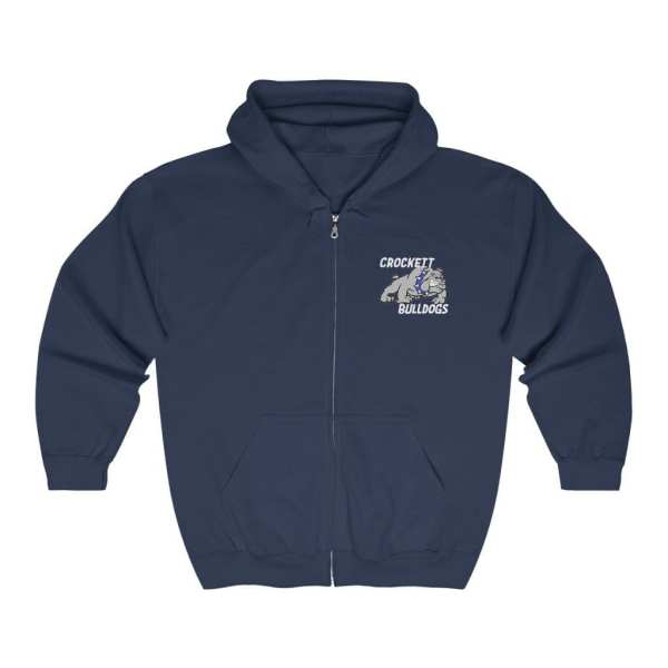 Crockett Bulldogs Full Zip Hoodie