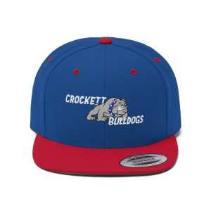 Crockett Bulldogs Unisex Flat Bill Hat