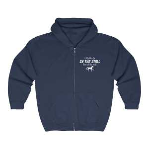 I'd Rather Be In The Stall Than At The Mall – Adult Full Zip Hoodie
