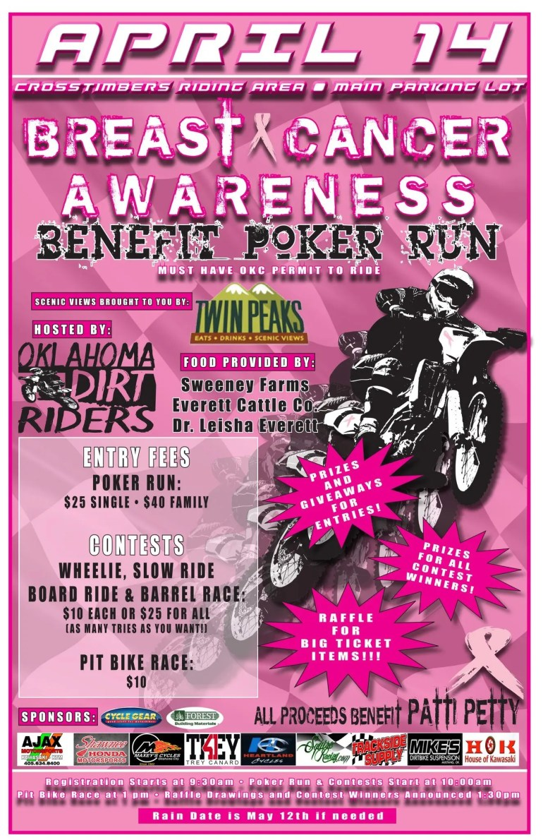 Okie Dirt Riders Poker Run Flyer