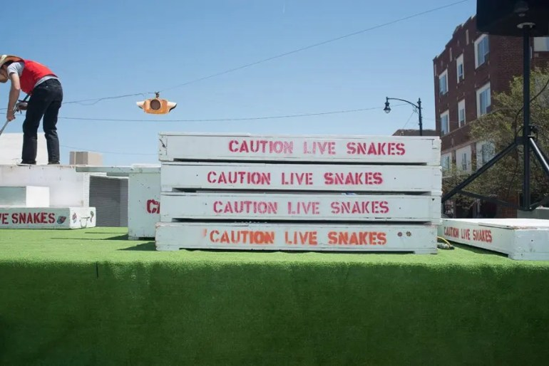 I didn't know they hauled snakes that way.