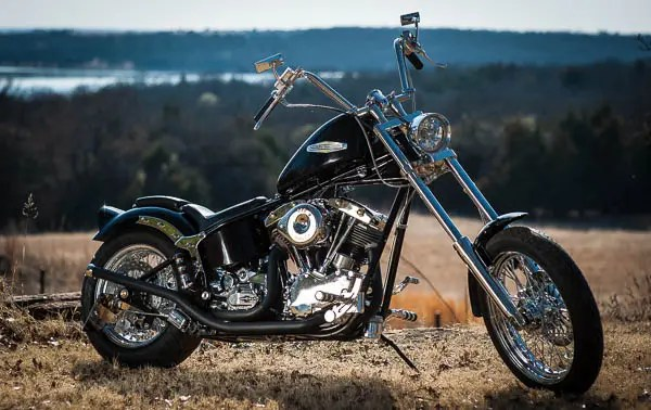 Tommy Smith rebuilt this chopper from scratch.