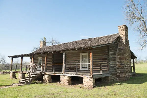 A typical bunkhouse at Fort Gibson.