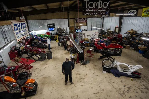 Tombo Racing has moved to a new 4,000 square foot facility located 1/4 mile west of I-35 on S Grand Blvd.