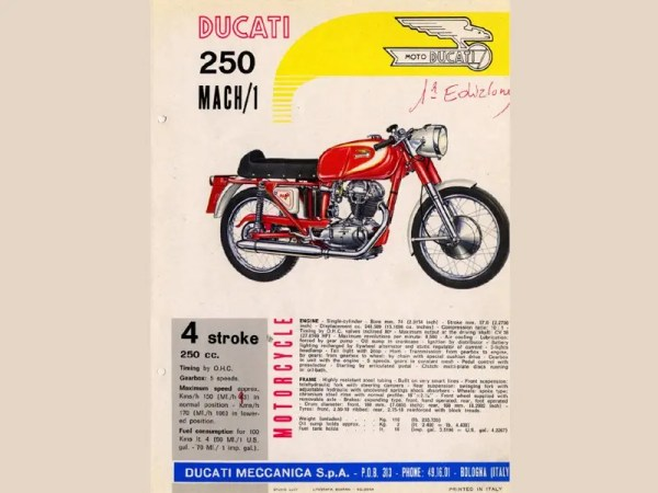 Ducati handbill for the Mach 1/S