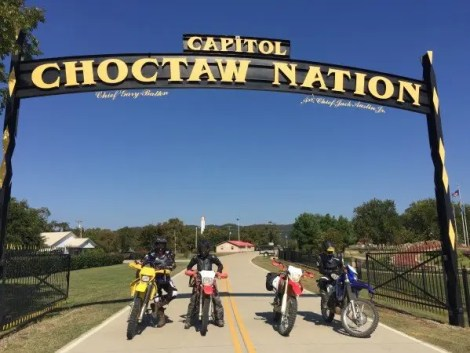 We stopped and explored the Choctaw Nation Capitol on the last day of our ride.