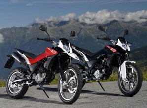 2013 Husqvarna TR650 Terra (left) and Strada (right)