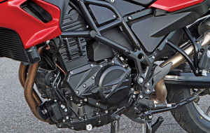 The 798cc parallel twin puts out 4 horsepower and 2 lb-ft of torque more than before.