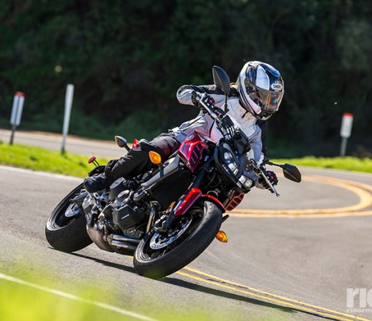 """The """"bang-for-the-buck"""" king is better than ever, with a host of upgrades that improve performance and rideability, and sharp, aggressive new styling befitting its sporting nature. (Photos by Garth Milan and Triumph Motorcycles)"""
