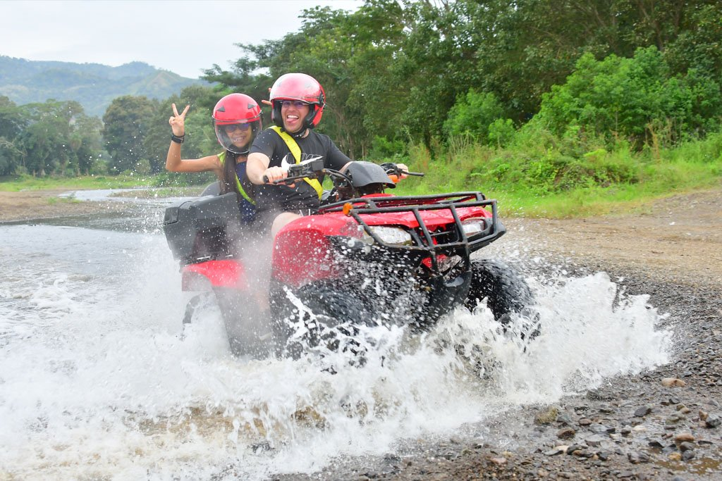 2 Riders one ATV