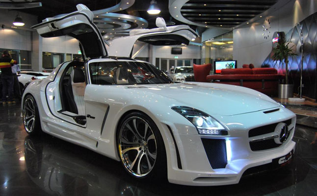 rides cars mercedes-benz sls amg widebody fab design