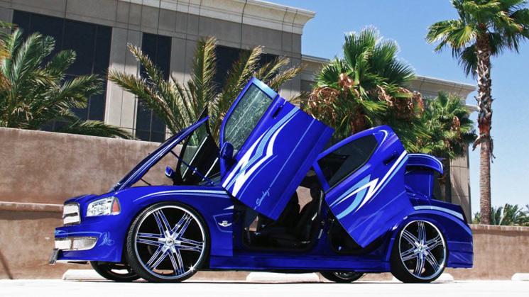 rides-blueberry-kush-dodge-charger-lexani-advocate-26-inch-lambo-doors