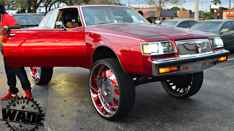gunplay-rides-g-body-buick-regal-forgiato-classic-kustoms-grille-steering-wheel-30-inch