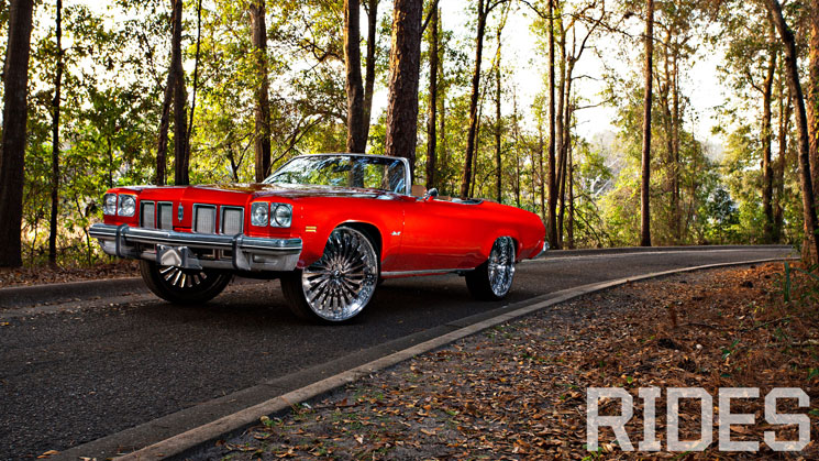 rides 1975 Oldsmobile Delta 88 Convertible forgiato donk squat stance oldschool donk house of kolor hok