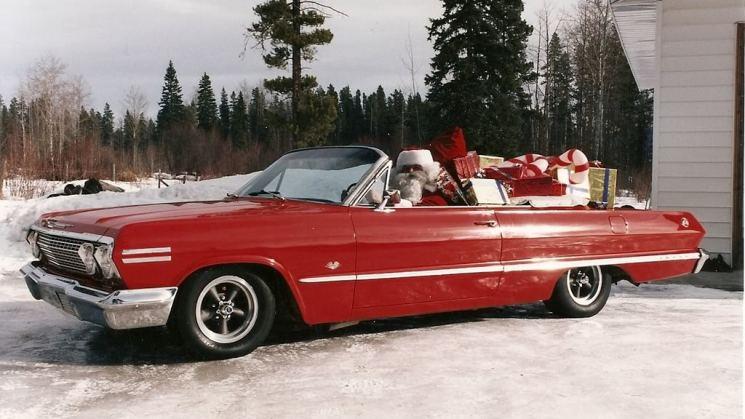 Christmas Impala Santa