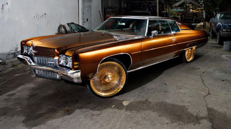 i-95 motorsports florida donk chevrolet chevy impala gold dayton wire wheels rides magazine