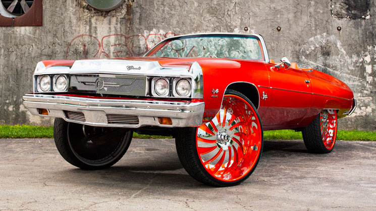 sudamar paint and body shop florida rides magazine donk chevy chevrolet impala fiberglass squat forgiato