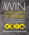 meguiar's car care cleaning products sweepstakes win trip to sema 2014 las vegas