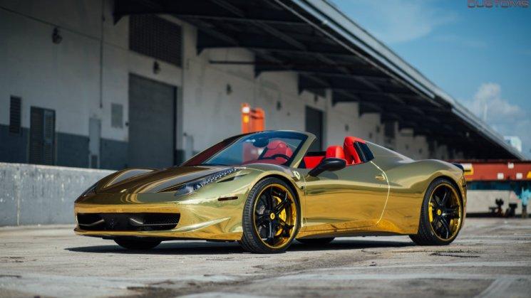 Robinson Cano's Gold Ferrari 458 Italia Spider 09R