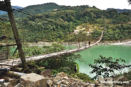Gandhi Footbridge, Siang River