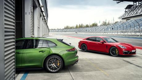 Two athletes join a Porsche Panamera family