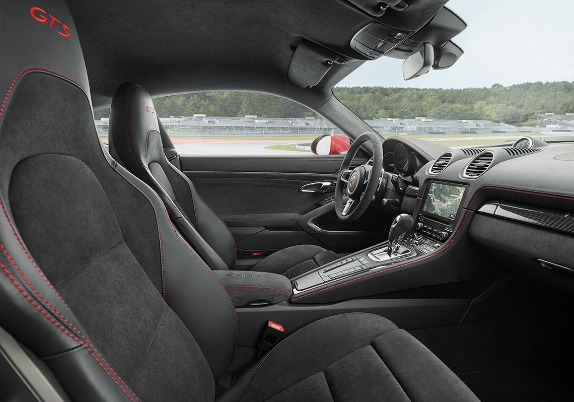 Interior: Standard Alcantara® and Porsche Track Precision App
