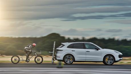 Porsche helps European bicycle land speed record