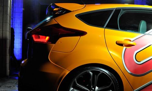 La Ford Focus ST 2015 récemment dévoilée, à l'occasion de l'édition 2014 du festival de la vitesse de Goodwood.
