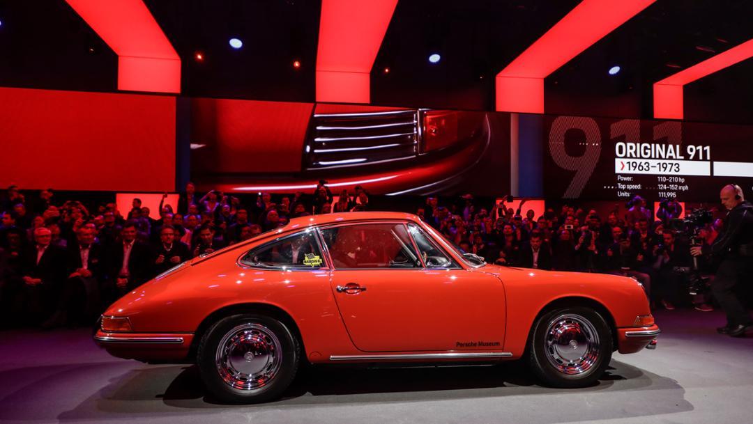 911 (original 911), universe premiere Porsche 911, Los Angeles, 2018, Porsche AG