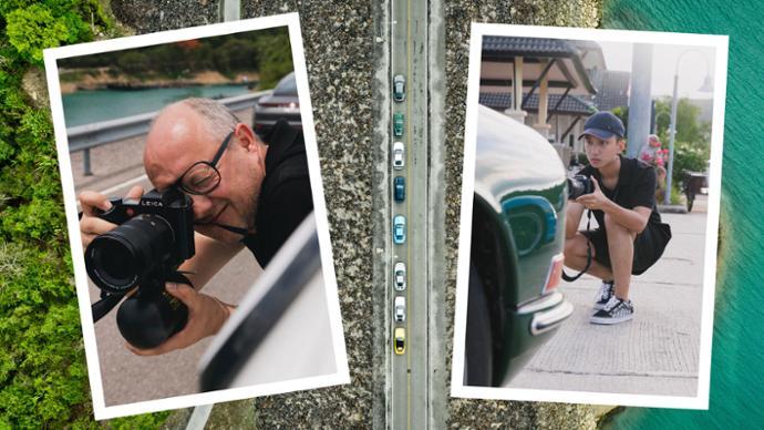 Stefan Bogner, Yik Keat, l-r, photographers, 2019, Porsche AG