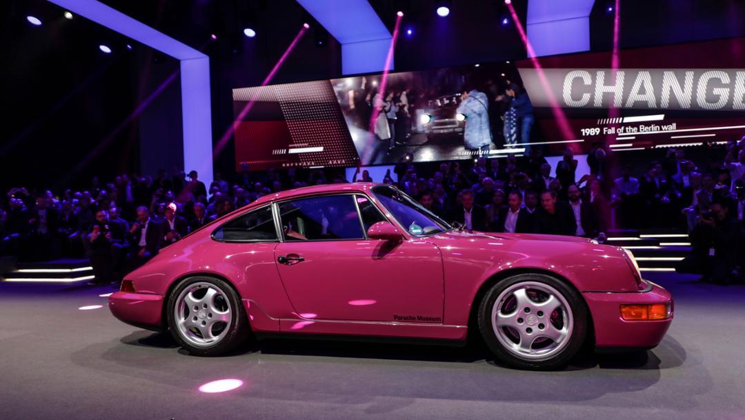 911 (964), universe premiere Porsche 911, Los Angeles, 2018, Porsche AG