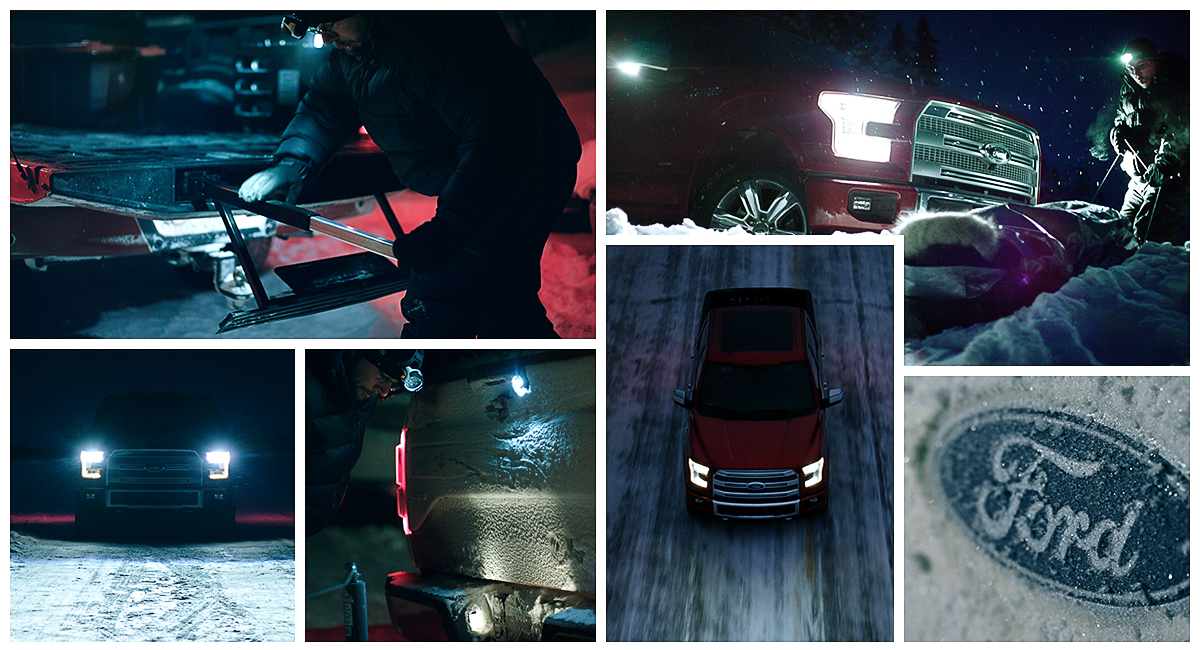 The universe of night and cold are no compare for a  2015 F-150