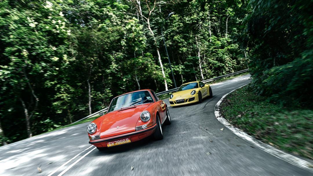 911T, 911 Carrera T, l-r, 2018, Porsche AG