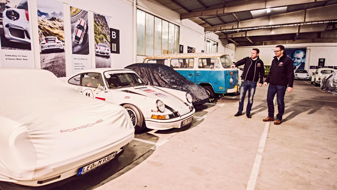 Oliver Berg, Bernd Stadler, l-r, Weissach, 2018, Porsche AG