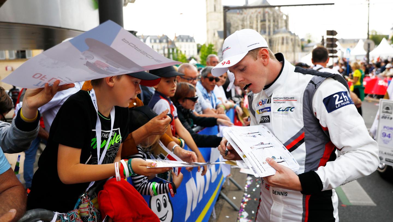 Dennis Olsen (N), Porsche GT Team, Drivers' parade, FIA WEC, Le Mans, 2019, Porsche AG