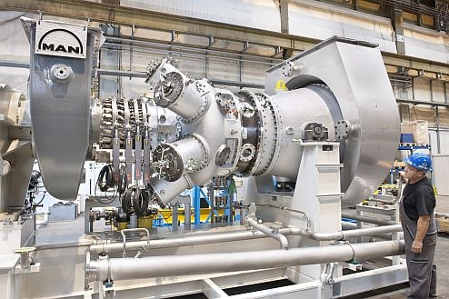 MAN Diesel  Turbo's MGT gas turbine family is creation a entrance into a Chinese marketplace (archive picture).