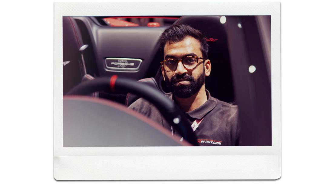Zaid Hamid, journalist, 911 Speedster, universe premiere, New York International Auto Show, 2019, Porsche AG