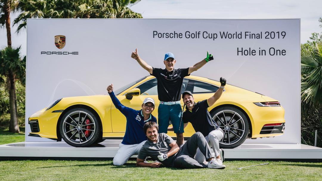 Marco Leoni and his associate players, 911 Carrera S, Porsche Golf Cup, Mallorca, 2019, Porsche AG