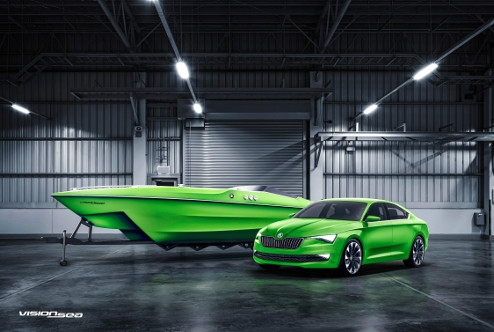 The 'ŠKODA VisionSea' is holding ŠKODA's passion to a water.