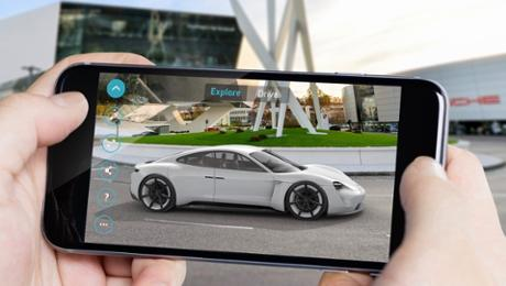 "The Porsche ""Mission E Augmented Reality"" app"