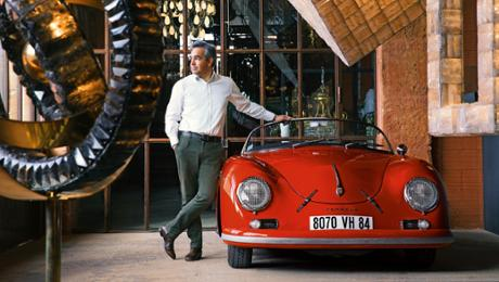 Regis Mathieu and his Porsche collection