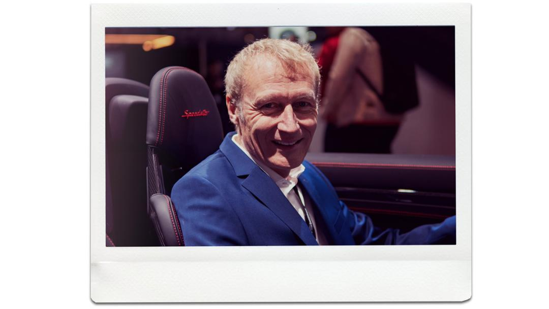 Andreas Breuninger, 911 Speedster conduct developer, universe premiere, New York International Auto Show, 2019, Porsche AG